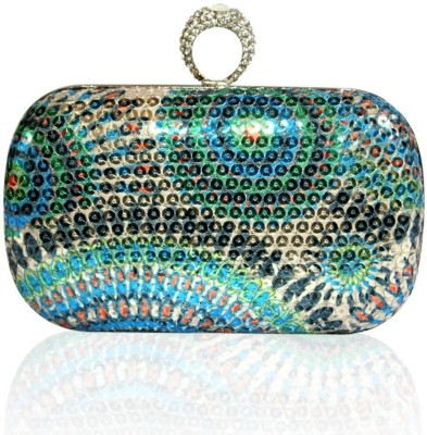 Inspired Living Women Party Multicolor  Clutch