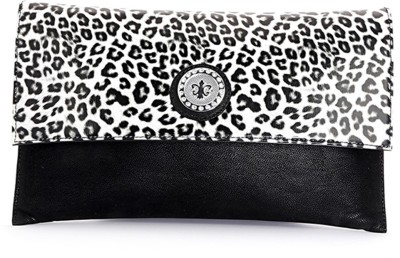 Elligator Women Party Black, White  Clutch