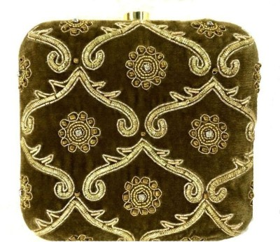 Luxury Living Party Brown  Clutch