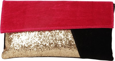 Lizzie Casual, Festive, Formal, Party, Sports, Wedding Red, Gold, Black  Clutch