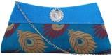 PrintFunny Women Blue  Clutch