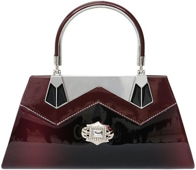 Swan Collection Women, Girls Party Maroon  Clutch