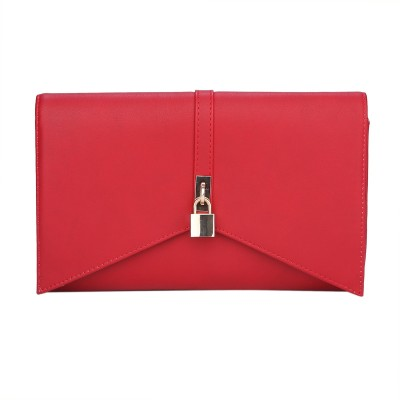 Fur Jaden Women Party Red  Clutch