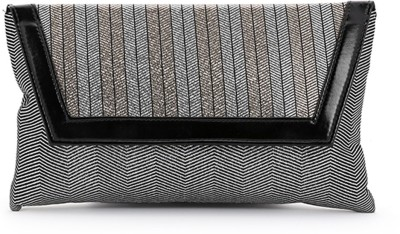 Elligator Women Party Grey, Black  Clutch