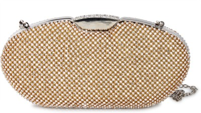 Colors Inc. Women Party Gold  Clutch
