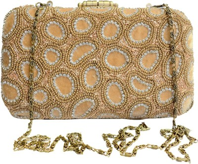 Glitter Accessories Wedding, Party, Festive Gold  Clutch