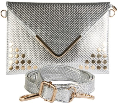 Young & Forever Women Casual, Party, Wedding Silver  Clutch