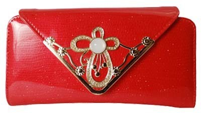 DELIHIKE Casual Red  Clutch