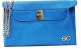 E2O Women Casual Blue  Clutch