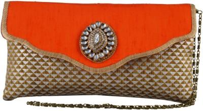 Lizzie Formal Orange  Clutch