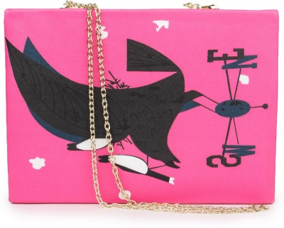 Amatra Girls, Women Casual, Party, Festive Pink, White  Clutch