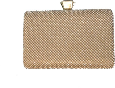 Kmu Traders Wedding, Party, Festive, Casual Gold  Clutch