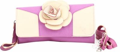 Jolie Casual, Festive, Formal, Party, Sports, Wedding Purple, White  Clutch