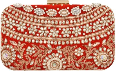 Arisha kreation Co Festive Red  Clutch