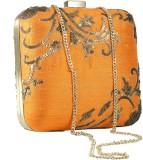 Sadaf Women Orange  Clutch