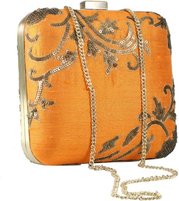 Sadaf Orange  Clutch