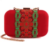 The Purple Sack Women Party Red  Clutch