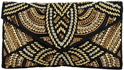 DUCHESS Casual, Party Black, Gold  Clutch