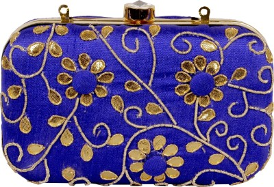 Lizzie Casual, Festive, Formal, Party, Sports, Wedding Blue  Clutch