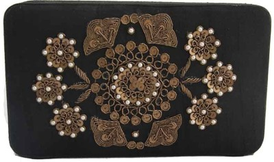 The Creative Hub Women Party, Festive, Wedding Black  Clutch