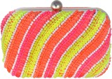 Posh Girls Casual Orange, Pink  Clutch