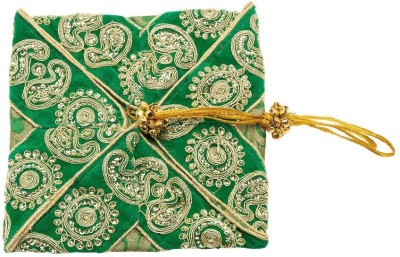 Jaipurse Festive Green  Clutch