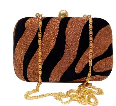 Harshi Party, Festive Black, Brown  Clutch
