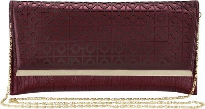 Spectrum Bags Casual, Party Maroon  Clutch