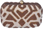 Posh Women Wedding Beige  Clutch