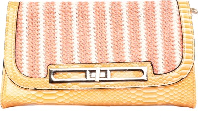 Kiara Women Casual Orange  Clutch