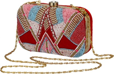 Jupiter Party Red, Multicolor  Clutch
