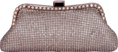 Tanishka Exports Girls Casual Silver  Clutch