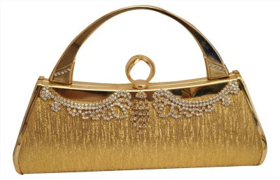 New Style India Gold  Clutch