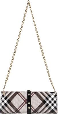 Bags Craze Women Casual Brown, Beige  Clutch