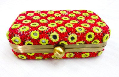 Kairan jaipur Party Multicolor  Clutch