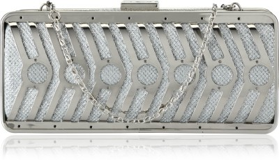 Aadi And Sons Women Festive, Casual Silver  Clutch