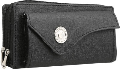 Magiq Women Casual Black Artificial Leather Wallet