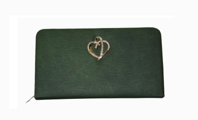 Vedic Deals Casual Green  Clutch