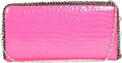 Kiara Women Casual Pink  Clutch