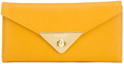Viari Women Casual Yellow  Clutch