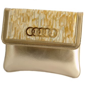 Demure Women Formal Gold  Clutch