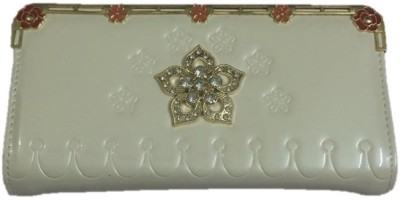 Smyle Casual White  Clutch