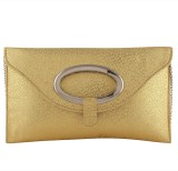 Pink Rose Women Party Gold  Clutch