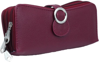 Magiq Women Casual Maroon Artificial Leather Wallet