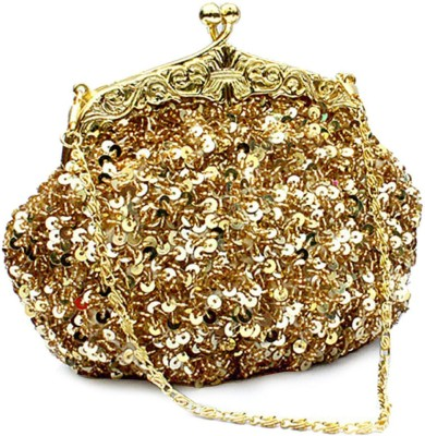 Chicastic Women Wedding Gold  Clutch