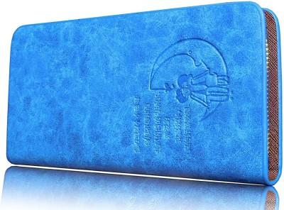 Samco Fas Girls, Women Blue Genuine Leather Wallet