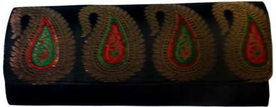 Bhamini Women Party Black  Clutch