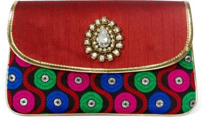 Designish Girls, Women Casual, Formal, Festive Red, Blue  Clutch
