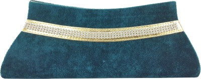 X-WELL Party, Wedding, Festive Green  Clutch