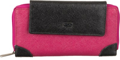 Goodwill Leather Art Casual, Festive, Party, Formal, Wedding Pink, Black  Clutch